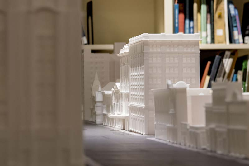 A 3D model of downtown South Bend.